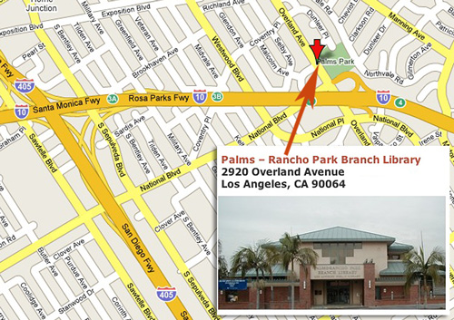 Palms-Rancho Park Library Meeting Location for the Greater Los Angeles Writers Society