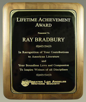 Ray Bradbury receives Lifetime Achievement Award from the Greater Los Angeles Writers Society