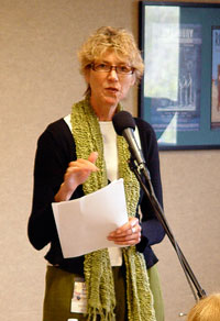 Marcia Meier at the Greater Los Angles Writers Society - Copyright photo by Tony N Todaro
