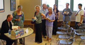 David Morrell signs books at the Greater Los Angeles Writers Society