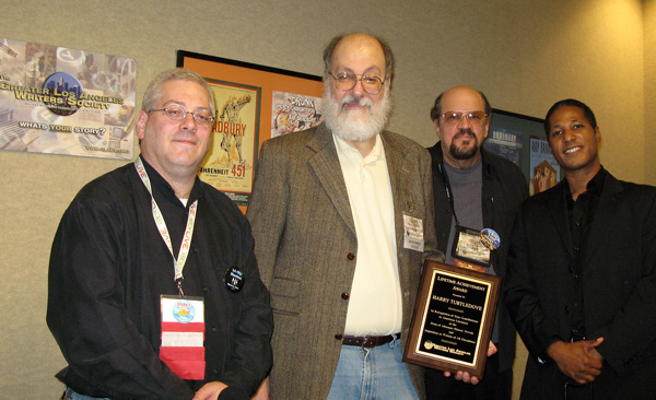 Neil Citrin, Harry Turtledove, Tony N Todaro and Ace Hall present a Lifetime Achievement Award